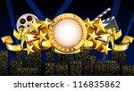 golden movie theme eps 10  file ... | Shutterstock .eps vector #116835862