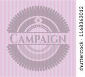campaign badge with pink... | Shutterstock .eps vector #1168363012