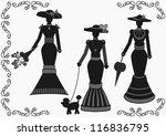 Vintage Elegant Woman Silhouette