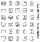 thin line vector icon set  ... | Shutterstock .eps vector #1168380592