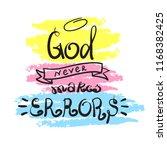 god never makes errors  ... | Shutterstock .eps vector #1168382425