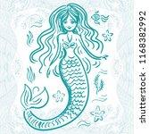 mermaid. vector illustration | Shutterstock .eps vector #1168382992