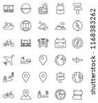 thin line vector icon set  ... | Shutterstock .eps vector #1168383262