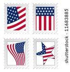Illustration Of Post Stamps...