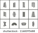 metal spring icon set. black... | Shutterstock .eps vector #1168395688