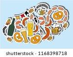 oktoberfest objects logotype in ...   Shutterstock .eps vector #1168398718