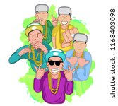 da rapper cartoon | Shutterstock . vector #1168403098