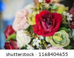 beautiful flower decorate... | Shutterstock . vector #1168404655