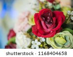 beautiful flower decorate... | Shutterstock . vector #1168404658