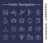 public navigation signs icons.... | Shutterstock .eps vector #1168409392