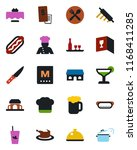 color and black flat icon set   ... | Shutterstock .eps vector #1168411285