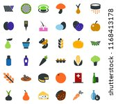 colored vector icon set   field ... | Shutterstock .eps vector #1168413178