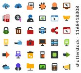 colored vector icon set   bomb... | Shutterstock .eps vector #1168418308