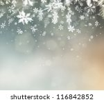 beautiful abstract snowflake... | Shutterstock . vector #116842852