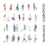different people big vector set ... | Shutterstock .eps vector #1168429252