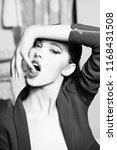 seduction. sexy woman or pretty ... | Shutterstock . vector #1168431508