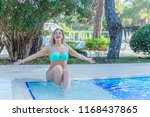 Woman of nice plus size figure on a vacation with good mood. xl size, natural beauty of modern woman, american or european appearance lady