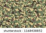 pixel camo background. seamless ... | Shutterstock .eps vector #1168438852