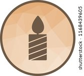 lit candle icon | Shutterstock .eps vector #1168439605