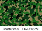 military or hunting pixel... | Shutterstock .eps vector #1168440292