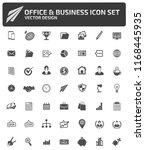 business vector icon set | Shutterstock .eps vector #1168445935
