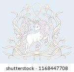 unicorn and fantastic vintage... | Shutterstock .eps vector #1168447708