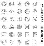 thin line vector icon set  ... | Shutterstock .eps vector #1168450492