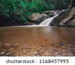 rain forest and waterfall... | Shutterstock . vector #1168457995