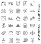 thin line vector icon set  ... | Shutterstock .eps vector #1168459138