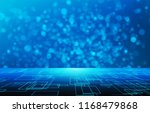 cubes in virtual empty... | Shutterstock . vector #1168479868