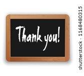 thank you. vector hand written...   Shutterstock .eps vector #1168480315