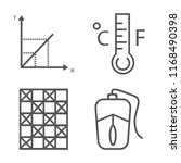 set of 4 vector linear icons... | Shutterstock .eps vector #1168490398
