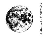 hand drawn moon. vector... | Shutterstock .eps vector #1168490665