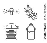 set of 4 vector linear icons...