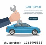 automobile  repair service and ... | Shutterstock .eps vector #1168495888