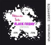 black friday sale banner. paint ... | Shutterstock .eps vector #1168499578
