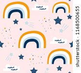 seamless childish pattern with... | Shutterstock .eps vector #1168500655
