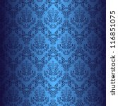 Seamless Dark Blue Wallpaper I...