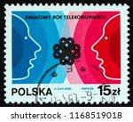 poland   circa 1983  a stamp... | Shutterstock . vector #1168519018