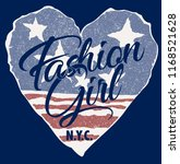 fashion girl with usa heart... | Shutterstock .eps vector #1168521628