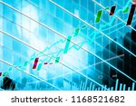 perspective stock market index... | Shutterstock . vector #1168521682