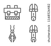 set of 4 vector icons such as... | Shutterstock .eps vector #1168526482
