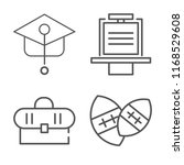 set of 4 vector icons such as... | Shutterstock .eps vector #1168529608
