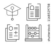 set of 4 vector icons such as... | Shutterstock .eps vector #1168529758