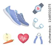 gym and training cartoon icons... | Shutterstock .eps vector #1168531075