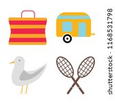 set of 4 vector icons such as... | Shutterstock .eps vector #1168531798