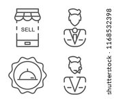 set of 4 vector icons such as... | Shutterstock .eps vector #1168532398
