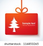 christmas applique background.... | Shutterstock .eps vector #116853265