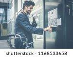i have arrived. businessman... | Shutterstock . vector #1168533658