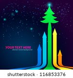 rainbow arrows background with... | Shutterstock .eps vector #116853376